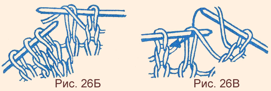 Как снять накид вязание 155
